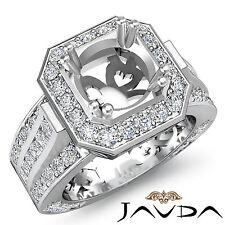 Vintage Engagement Diamond Antique Huge Ring Semi Mount 18k White Gold 1.65Ct