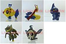 B#349] 5x Pokemon Figures 4-5cm: Feebas Milotic Shuppet Banette Duskull