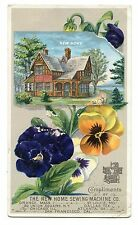 Antique Advertisement Trade Card New Home Sewing Machine NYC Chicago San Fran