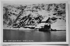Valdez AK Cliff Gold Mines Real Photo Postcard RPPC
