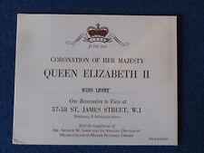 Queen Elizabeth II - Coronation 1953 - Ticket - St James Street - London - MGM