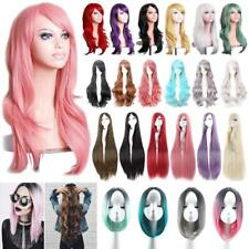 Women Sexy Long Hair Full Wig Halloween Costume Cosplay Curly Wavy Straight Wigs
