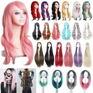 Women Long / Short Curly Wigs Fashion Cosplay Costume Hair Anime Wavy Party Real