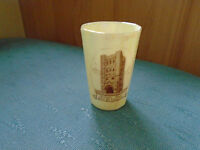 NORMAN TOWER BURY ST EDMUNDS FLUTED BEAKER - WILLOW ART LUSTRE CRESTED CHINA