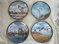 4 Danbury Mint Wild Wings Winged Glory Geese Collectors Plates