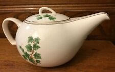Paden City Pottery Ivy Gold Trim Tea Pot