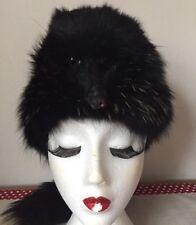 Rare Vintage Genuine Complete Fox Fur Davy Crockett Style Hat