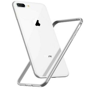 For iPhone 7 8 XS MAX XR Silver Ultra Thin Hard Aluminum Metal BUMPER FRAME Case