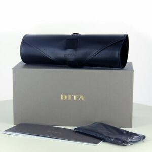 New DITA Grey Box Black Leather Case Cloth Documents for sunglasses / eyeglasses