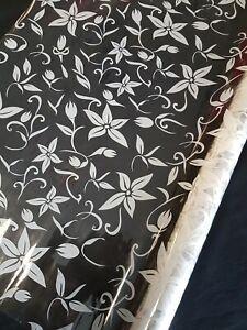 Floral Print Cellophane Roll Gift Wrap Hamper Basket Flower Funeral Mother's Day