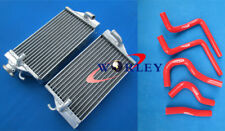 For HONDA CR125R CR125 CR 125 R 2002 2003 02 03 auminum radiator & hose RED