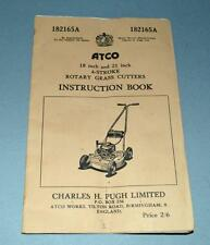 Old Instruction Book For The Atco 18 and 21 inch Grass Cutters - Charles H Pugh