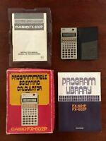 Early Casio Programmable Scientific Calculator Model FX-602P w Manuals