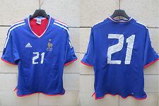 VINTAGE Maillot Equipe de FRANCE féminine Adidas porté 21 match wonr shirt rare