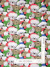 Christmas Santa Hat Puppy Dog Glitter Acct Cotton Fabric Traditions By The Yard