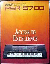 Original Color Brochure for Yamaha PSR-5700 Portatone Workstation MIDI Keyboard