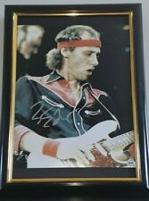 MARK KNOPFLER - HAND SIGNED DIRE DIRE STRAITS PHOTO WITH COA - FRAMED AUTHENTIC