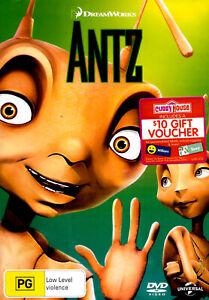 Antz -Rare DVD Aus Stock Animated New Region 4