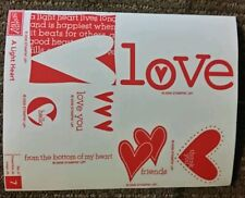 Stampin' Up A LIGHT HEART Set of 7 Wood Mounted Rubber Stamps Lot Love Friend