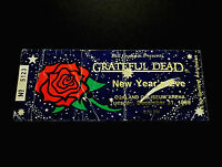 Grateful Dead Ticket Stub 1985 1986 New Years Eve 12/31/1985 Rose Space BGP GDTS