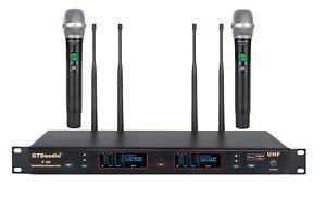 GTD Audio 2x100 Ch UHF Diversity Wireless Hand held Microphone Mic System F-36