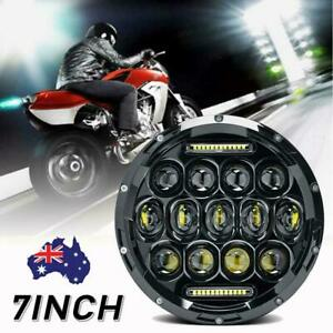 7Inch LED Headlight Projector DRL Motorcycle for Harley Dyna Cafe Racer Bobber_