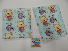 Winnie the Pooh Burp Cloths 2 Pack Toweling Backed GREAT GIFT