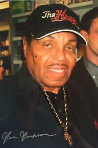 17) Joseph Jackson signiert Vater Michael Foto Signatur Unterschrift Autogramm