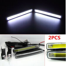 2x DRL White COB LED Daytime Running Driving Lights Fog lamps kit 6000K Xenon