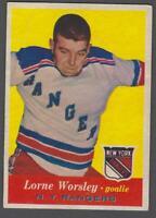1957-58 Topps New York Rangers Hockey Card #53 Gump Worsley