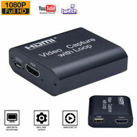 4K HDMI To USB3.0 Video Capture Card Dongle for OBS Game Live Stream Mic Input