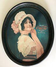 VINTAGE 1914 Coke COCA-COLA Drink BEVERAGE Soda Advertising METAL Serving TRAY