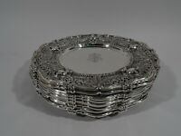Shreve Adam Plates - 3728 - Antique Dinner Chargers - American Sterling Silver