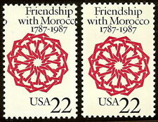 "2349 Multiple 2-Way Color Shift Error / EFO ""Friendship With Morocco"" Mint NH"
