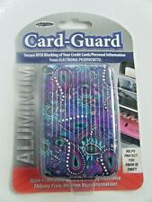 Aluminum Card Guard Secure RFID Blocking Credit Card Holder Purple Paisley New