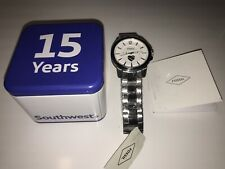 2019 Southwest Airlines 💙❤️💛 ✈️ Mens Fossil 15 Year Anniversary Watch NEW