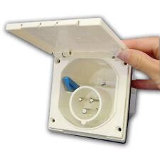 Mains Hook Up Inlet Socket | Camper / Caravan / Motorhome / Van - White