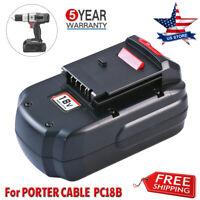NEW For Porter Cable 18 Volt Battery PC18B PCC489N PC188 PC18BLEX PC18SS PC18JR