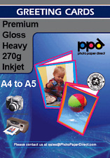 PPD Blank A4 Inkjet Printer Greeting Cards Paper Glossy Premium 270g x 20 Sheets