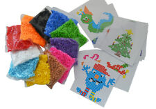Bügelperlen Set, 11.000 Teile, Jumbo-Packung, 11 Farben + Steckplatte + Vorlagen