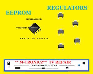 VIZIO VF550M MAIN BOARD# 3655-0022-0150 REPAIR KIT 6 PART UP TO DATE EEPROM