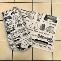 Ulster Weavers Baking Cooking Kitchen Cotton Hand Tea Towel Double Oven Gloves