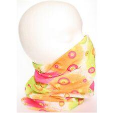 Ladies Girls Orange Lime Pink Tube Snood Scarf Headband Headscarf 12 ways2wear