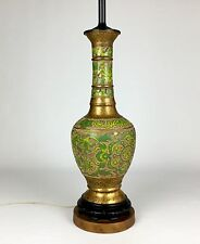 "Beautifull Vintage Antique Asian Oriental Cloisonné Champleve Lamp 28"" Tall"