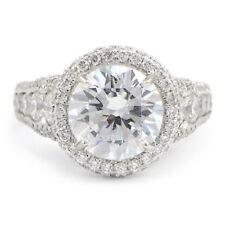 Engagement Halo VS2 Fine Diamond Rings