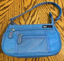 L.e.i. Jeans Vintage Purse Blue With Red Thread With Matching Wallet