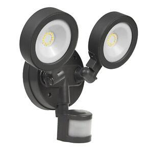 Double Wall LED Lamp PIR Indoor Outdoor Dusk Motion Sensor Adjustable IP65 20W