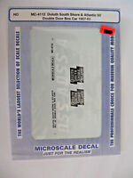 Microscale Decals HO DSS&A 50' Double Door Box Car 1957-65  #MC-4112