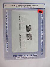 Microscale Decals HO DSS&A 50' Double Door Box Car 1957-65  #MC-4112
