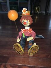 Art Paper Mache clown, Vintage, titled Shrink In Disguise